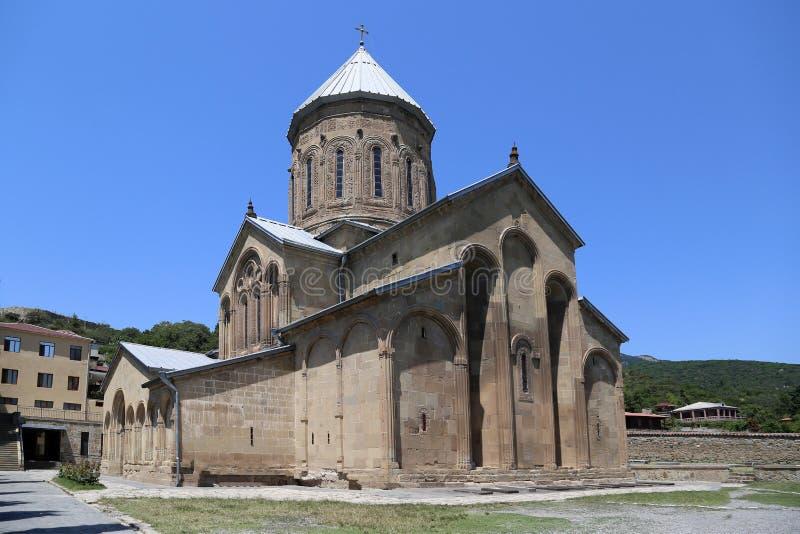 Kerk samtavro-Preobrazhenskaya in het klooster van St Nina stock foto