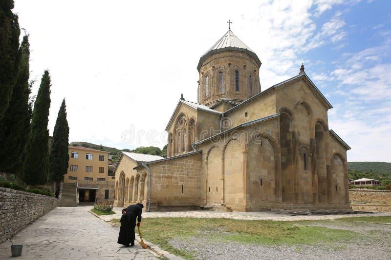 Kerk samtavro-Preobrazhenskaya in het klooster van St Nina royalty-vrije stock foto