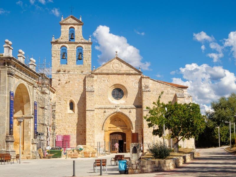 Kerk - San Juan de Ortega stock foto