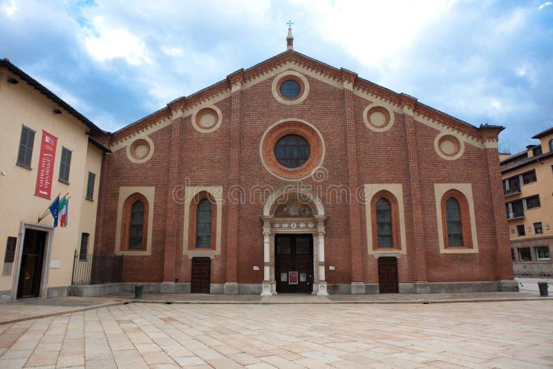 Kerk Santa Maria delle grazie in Milaan royalty-vrije stock afbeeldingen