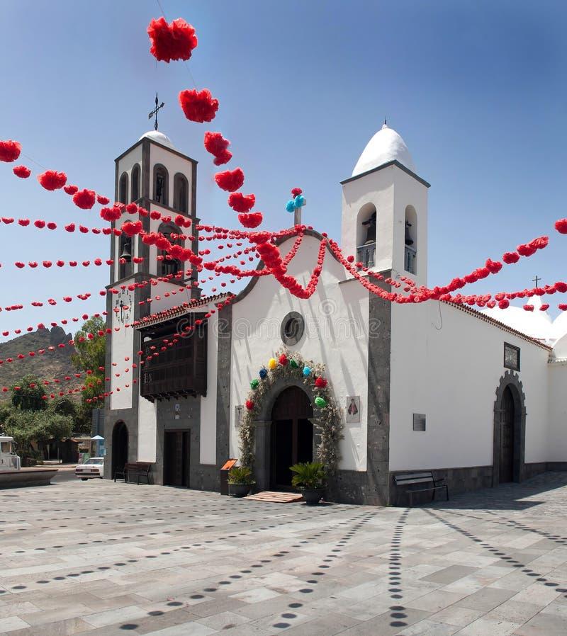 Kerk in Santiago del Teide royalty-vrije stock afbeelding