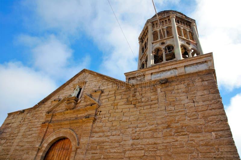 Kerk Santo Domingo in La Serena, Chili stock foto's