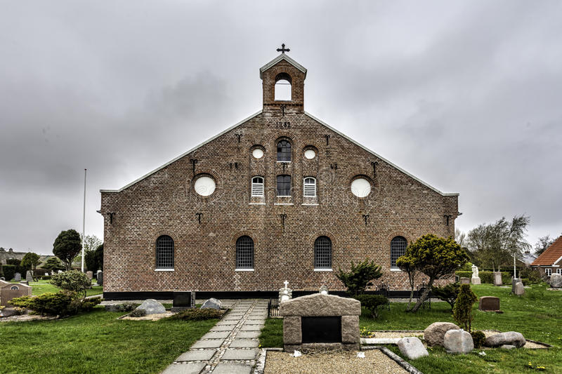Kerk in Sonderho, Fano, Denemarken stock afbeeldingen