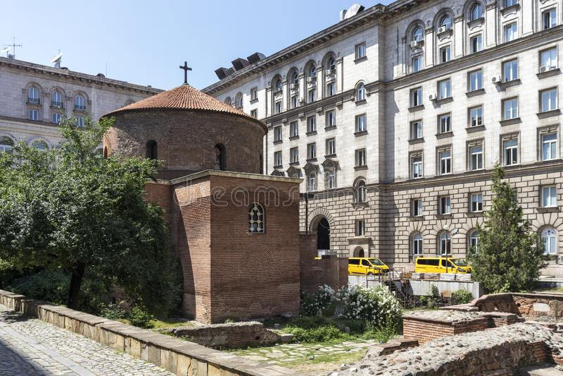 Kerk St George Rotunda binnen in Sofia, Bulgarije royalty-vrije stock afbeeldingen