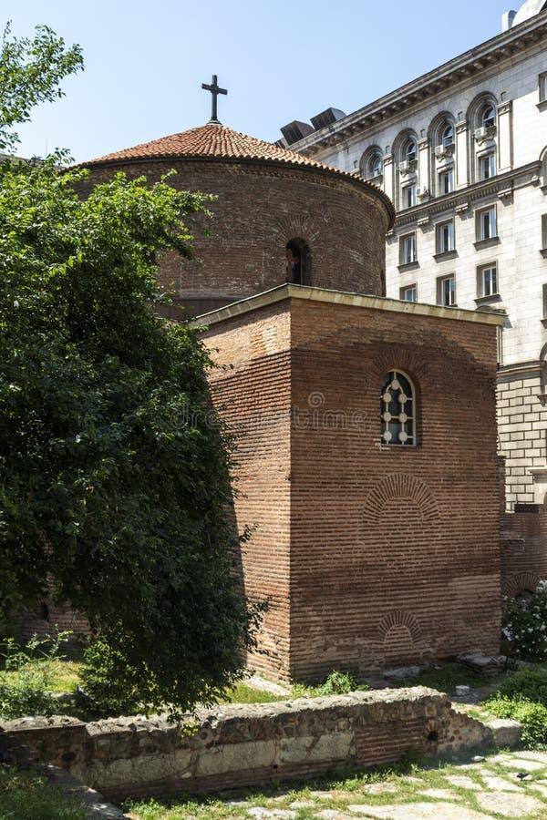 Kerk St George Rotunda binnen in Sofia, Bulgarije stock foto