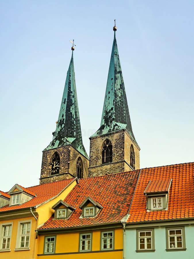 Kerk St Nikolai in Quedlinburg, Duitsland royalty-vrije stock fotografie
