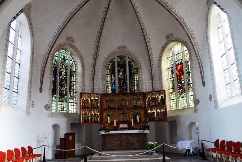 Kerk (St. Nikolai) van Burg (Fehmarn) royalty-vrije stock foto's