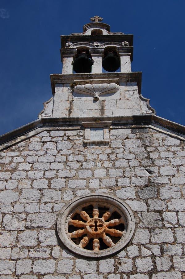 Kerk in Starigrad op eiland Hvar royalty-vrije stock afbeeldingen