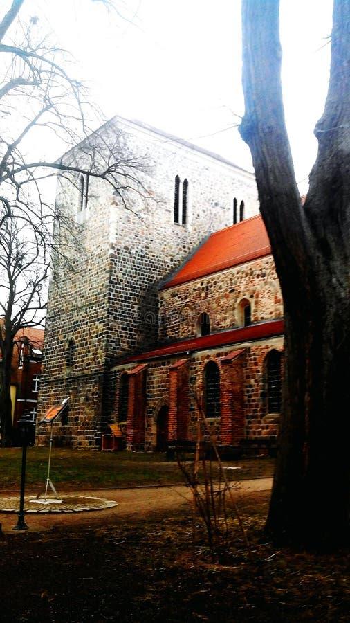 Kerk in Strausberg stock foto