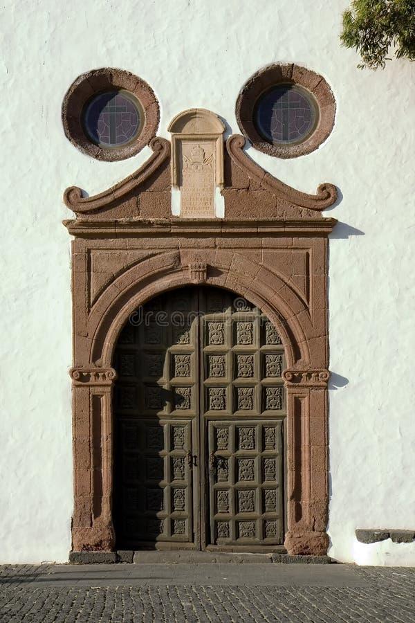 Kerk in Teguise, Lanzarote stock afbeelding