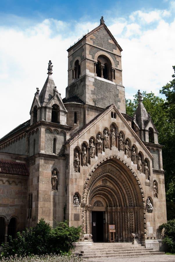 Kerk in theVajdahunjadkasteel royalty-vrije stock foto