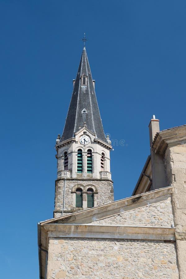 Kerk Tournon in Frankrijk stock foto's