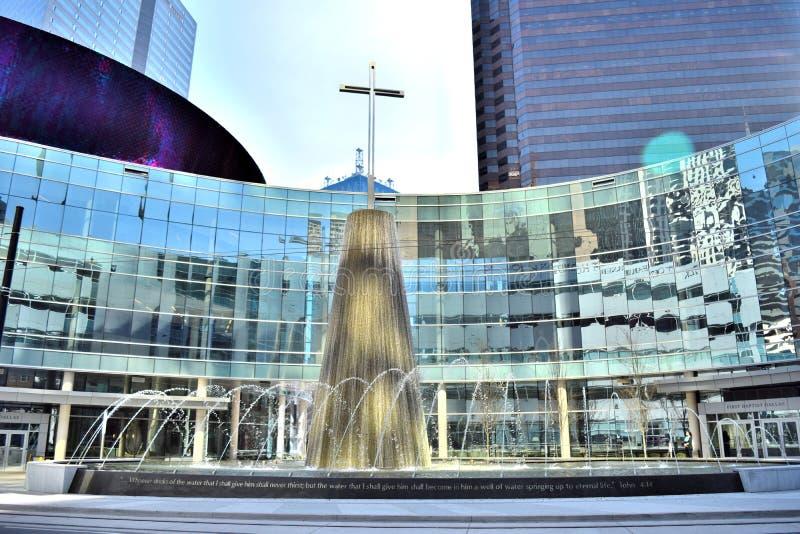 Kerk in Uptown Dallas, TX stock foto