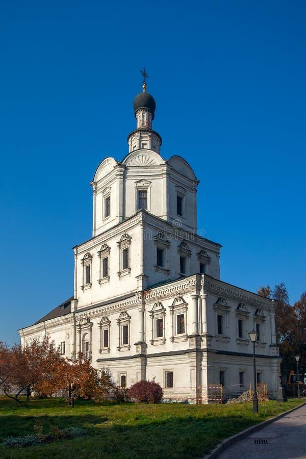 Kerk van Aartsengel Michael in Andronikov-Klooster, Moskou stock foto