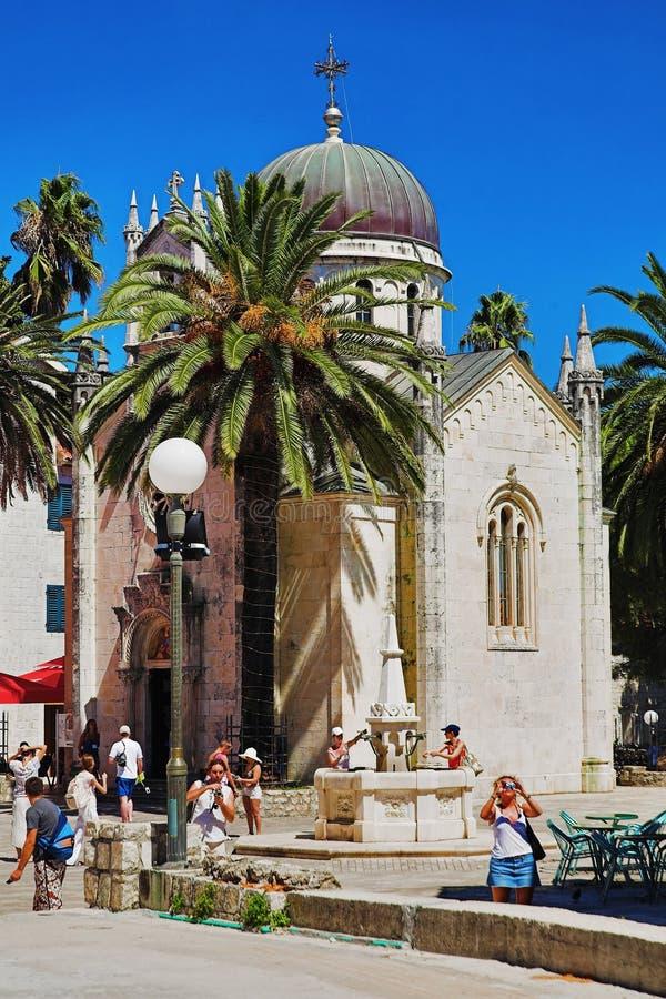 Kerk van Aartsengel Michael in Herceg Novi, Monten stock afbeelding