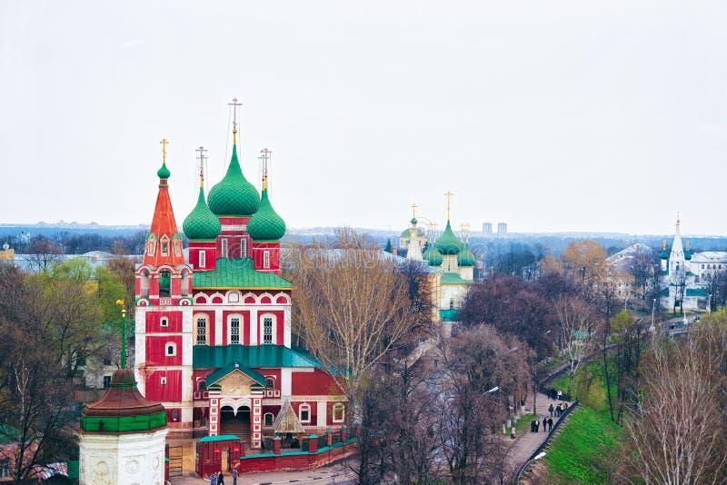 Kerk van Archangel Michael in Yaroslavl Rusland stock afbeeldingen