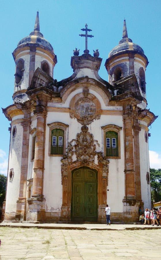 Kerk van Aleijadinho stock afbeeldingen