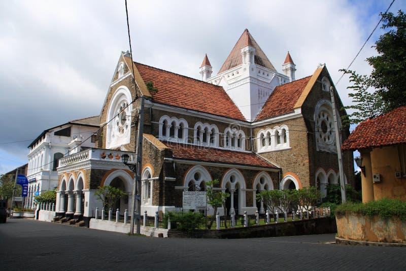 Kerk van Alle Heiligen, Gagel, Sri Lanka stock afbeelding