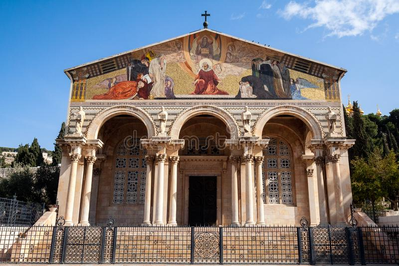 Kerk van Alle Naties Gethsemane Jeruzalem royalty-vrije stock afbeeldingen