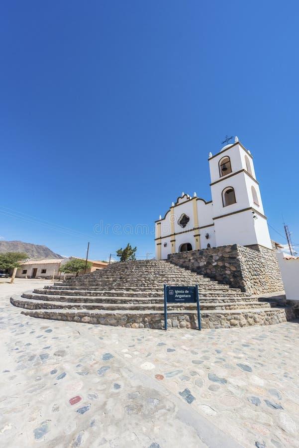 Kerk van Angastaco op Route 40, Salta, Argentinië royalty-vrije stock afbeeldingen