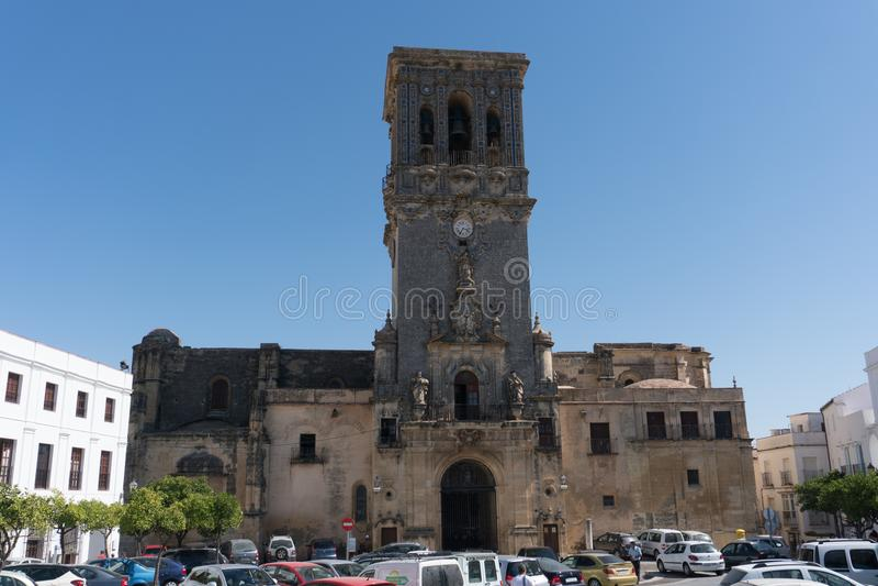 Kerk van Arcos de la Frontera, Andalucia Spanje royalty-vrije stock fotografie