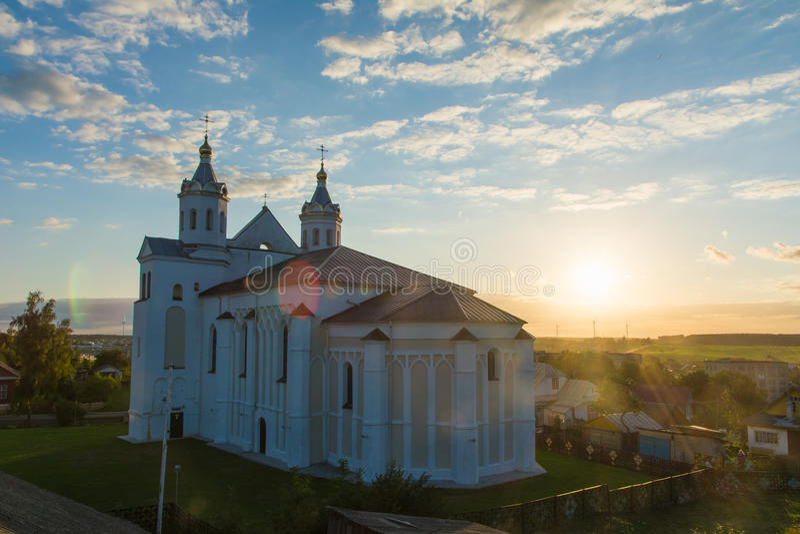 Kerk van Boris en Gleb in Novogrudok stock afbeelding