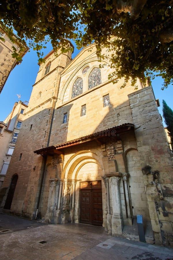 Kerk van Bourg DE Peage, Frankrijk royalty-vrije stock afbeelding