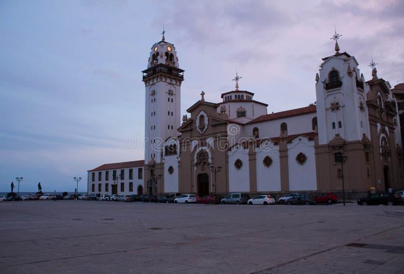 Kerk van Candelaria op het eiland van Tenerife royalty-vrije stock afbeeldingen