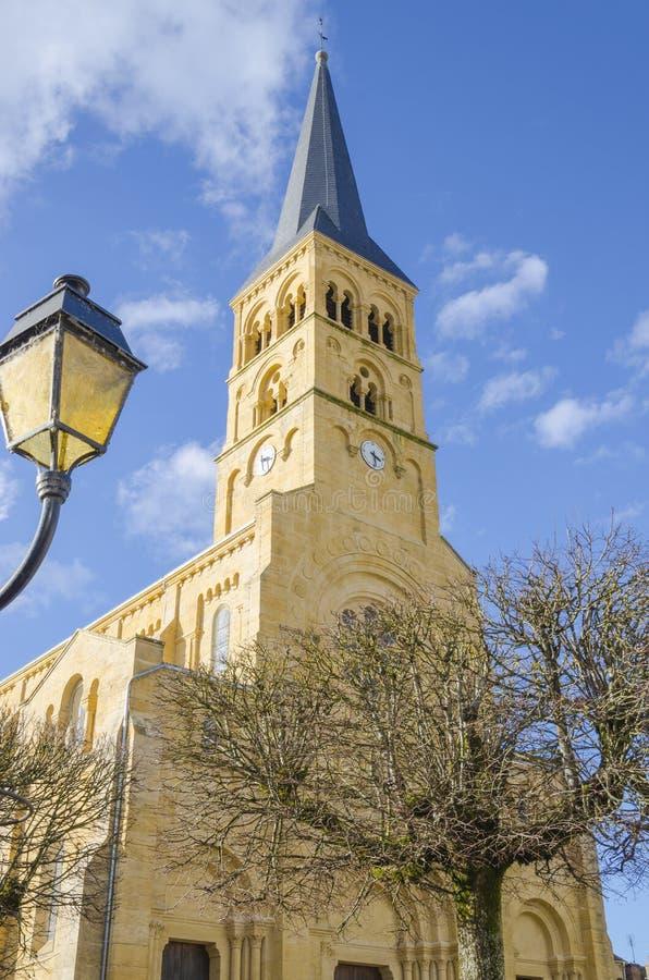 Kerk van Charolles, Bourgondië, Frankrijk, saone-et-Loire stock fotografie