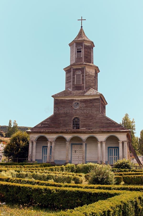 Kerk van Chiloe, Nercon. royalty-vrije stock afbeelding