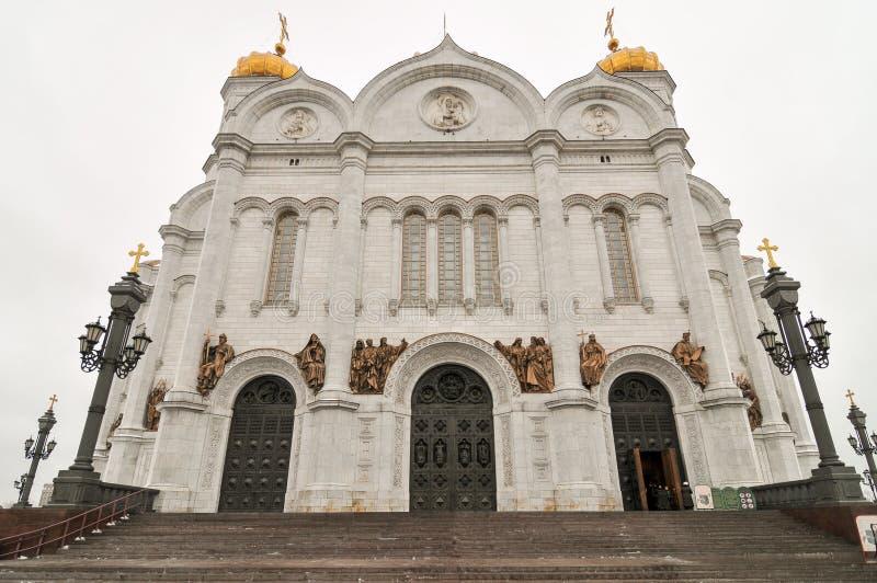 Kerk van Christus de Verlosser - Moskou, Rusland royalty-vrije stock foto's
