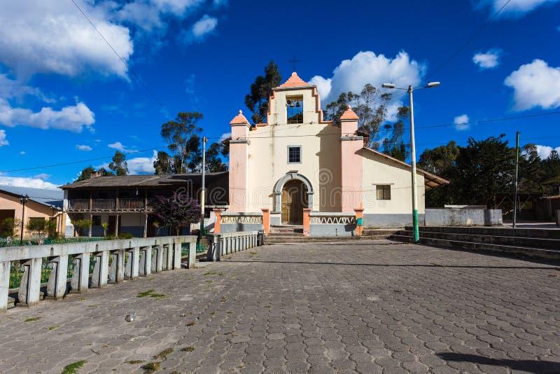 Kerk van Chugchilan stock foto's
