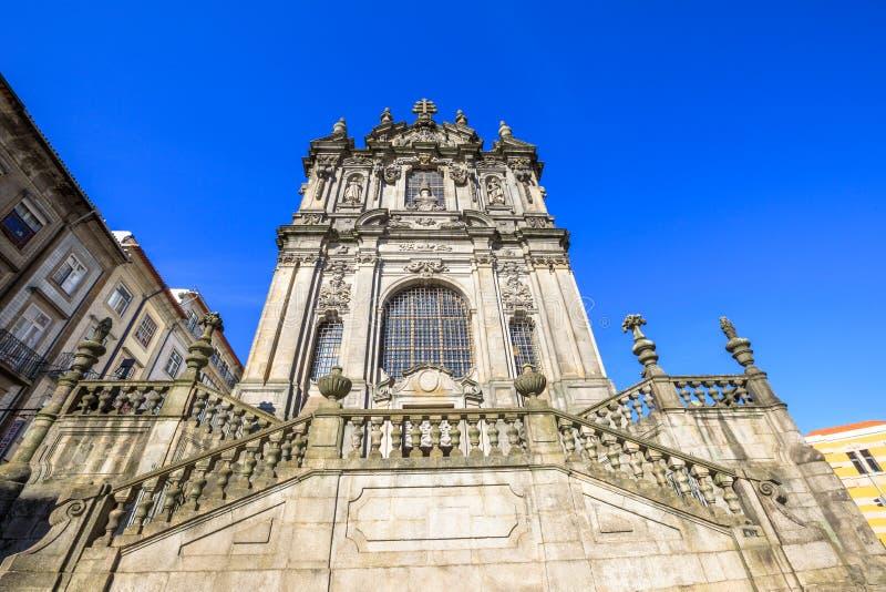Kerk van Clerigos Porto stock foto