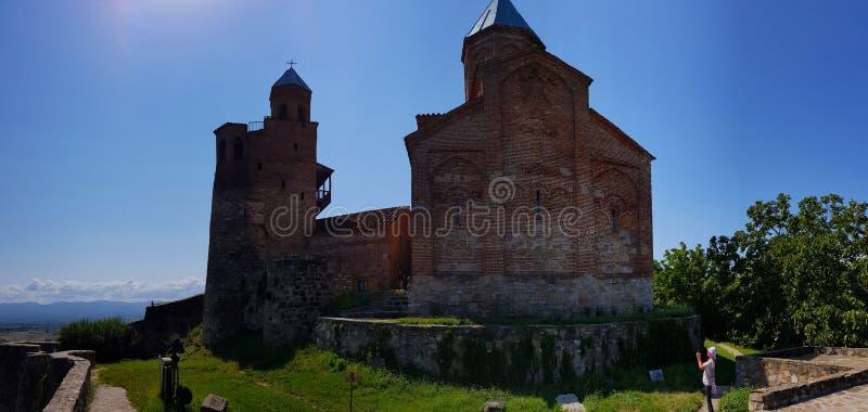 Kerk van de Aartsengels in de Citadel van Gremi, Georgië stock foto's