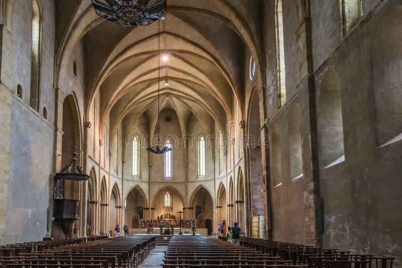 Kerk van de Abdij van San Volusien Ariege Foix Frankrijk stock fotografie