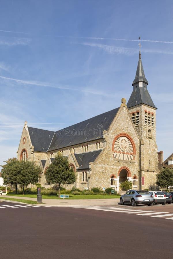 Kerk van de boog van Heilige Jeanne D ` in Le Touquet-Paris-Plage royalty-vrije stock afbeeldingen