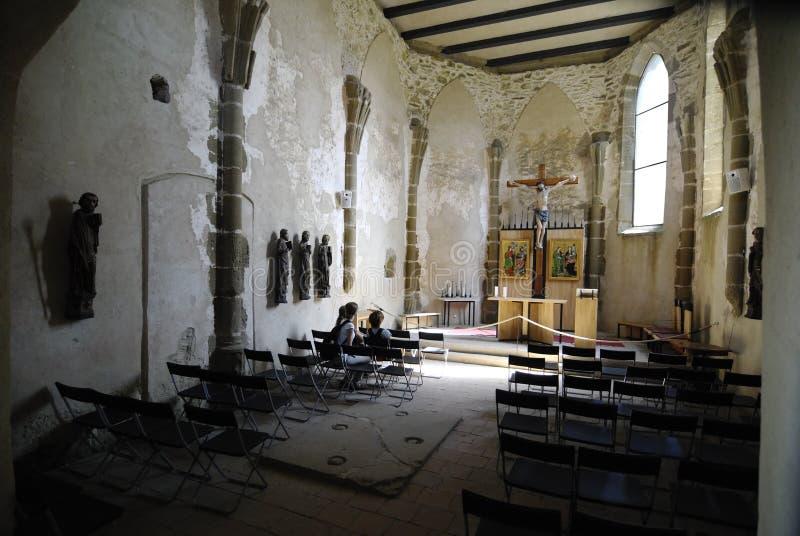 Kerk van de 12de eeuw in Slowakije stock foto's