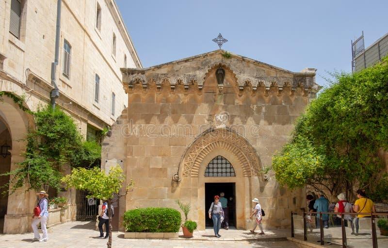 Kerk van de Flagellatie, die in het Moslimkwart van de Oude Stad van Jeruzalem, Isra?l wordt gevestigd royalty-vrije stock foto