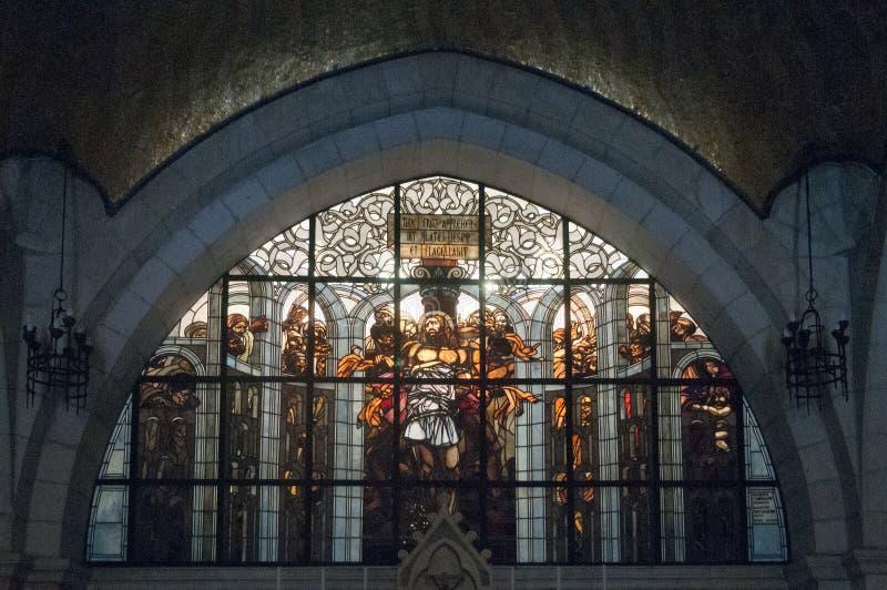 Kerk van de Flagellatie - Jeruzalem stock foto