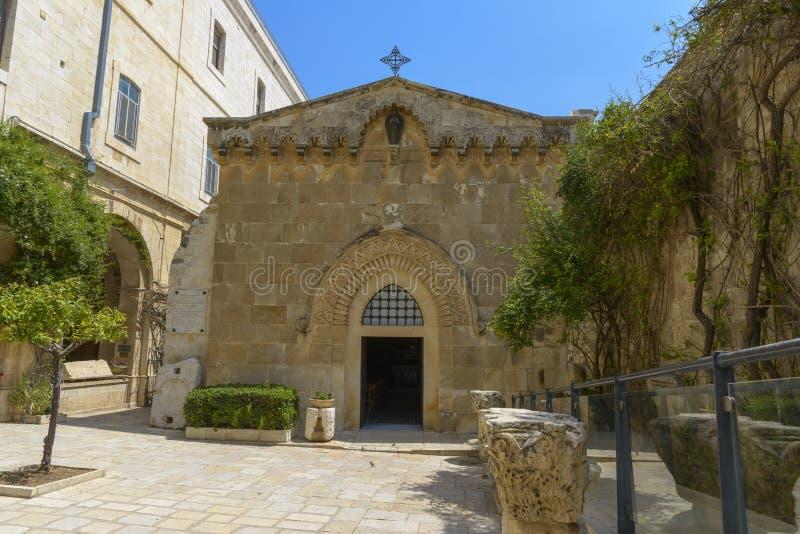 Kerk van de Flagellatie in Jeruzalem stock afbeeldingen
