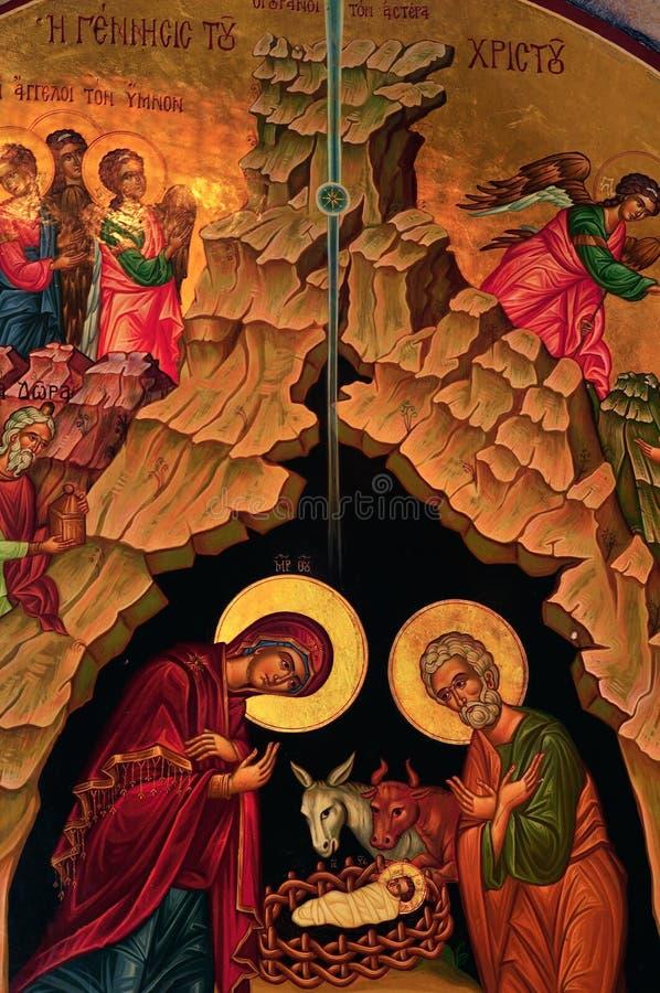 Kerk van de Geboorte van Christus stock afbeeldingen