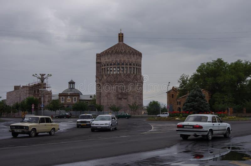 Kerk van de Heilige Aartsengels in Etchmiadzin Vagharshapat enz. royalty-vrije stock afbeeldingen