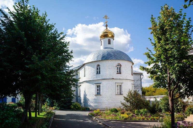 Kerk van de Heilige martelaren Adrian en Natalia Uspensky zilantov klooster, Kazan, Rusland royalty-vrije stock foto