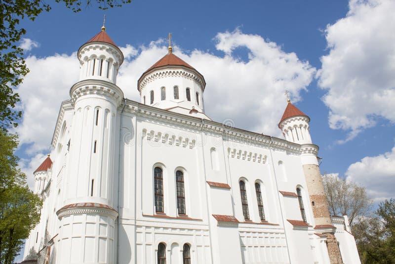 Kerk van de Heilige Moeder van God stock foto