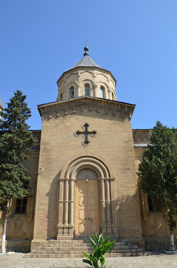 Kerk van de Heilige Verlosser in Derbent stock afbeelding
