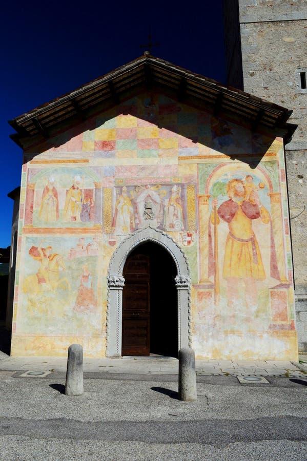 Kerk van de heiligen Peter en Biagio Cividale del Friuli 2 royalty-vrije stock foto's