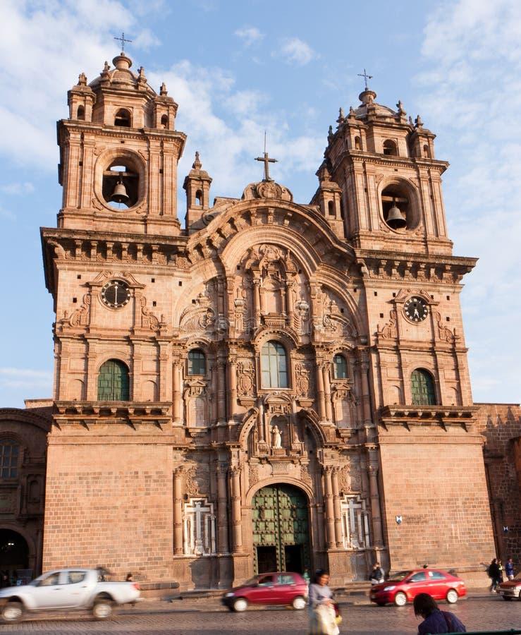 Kerk van de Maatschappij van Jesus, Cusco, Peru royalty-vrije stock foto's