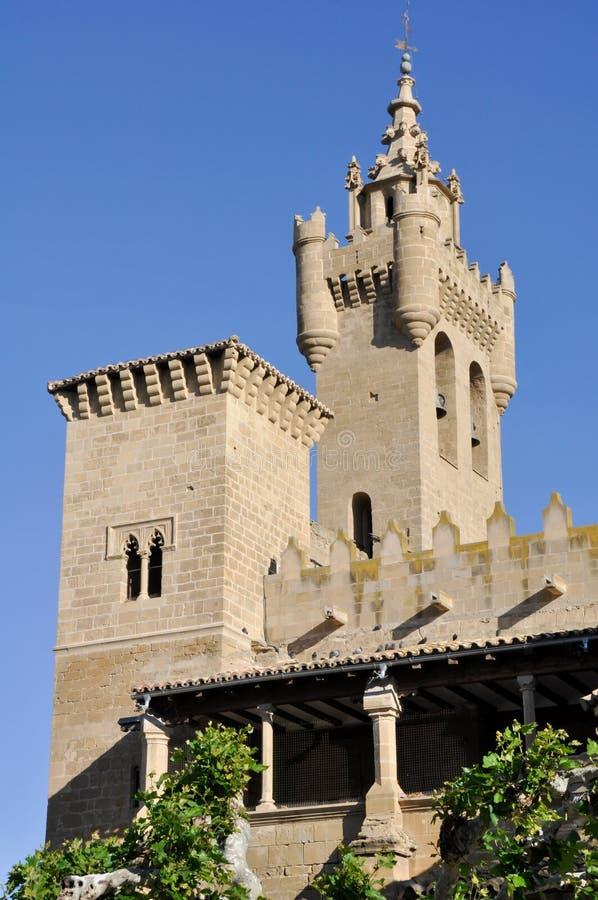 Kerk van de Redder, Ejea (Spanje) royalty-vrije stock afbeelding