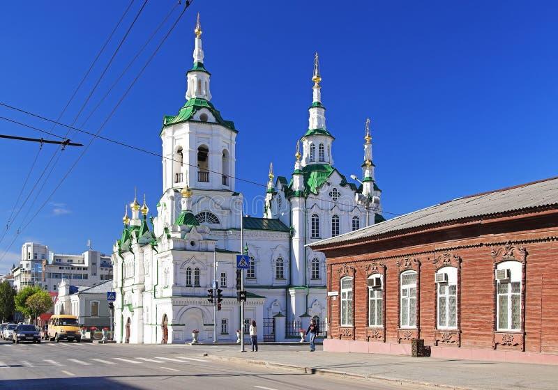 Kerk van de Redder in Tyumen, Rusland royalty-vrije stock foto's