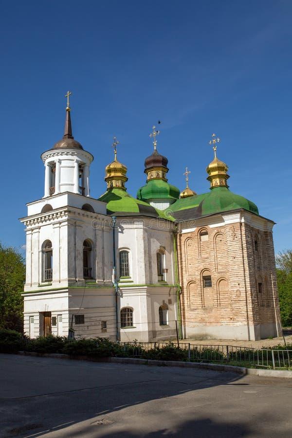 Kerk van de Verlosser in Berestovo in Kiev royalty-vrije stock fotografie
